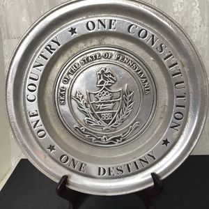 Vintage Pennsylvania Souvenir Serving Plate